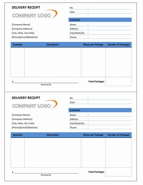 Delivery Invoice Sample * Invoice Template Ideas