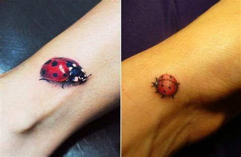 elegant small ladybug tattoo design small tattoos for those who like to keep it small and