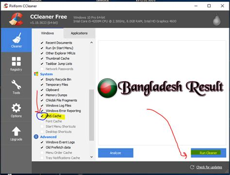 how to see live site by clearing dns cache by ccleaner