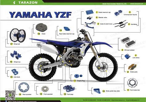 Spare Part Gear Yamaha cnc machined bling kits for yzf 250 450 dirt bike parts view yzf450 bling kits tarazon product