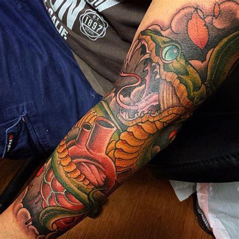 snake skin tattoo 70 snake tattoos for venomous bite of idea inspiration