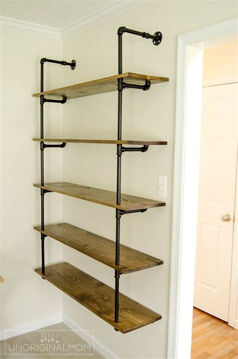 best 25 diy pipe shelves ideas on pipe