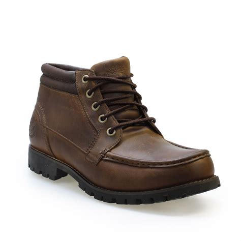 rugged leather boots timberland ek rugged wp brown leather boots ebay