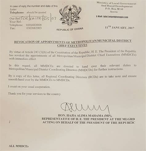 appointment letter bunt solar nana addo revokes appointment of all mmdces news