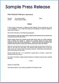 Press Release Letter Exle 6 Press Release Templates Excel Pdf Formats