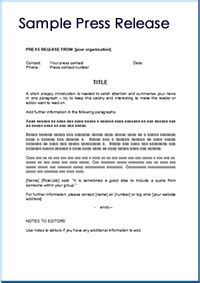 how to write a press release template writing press releases