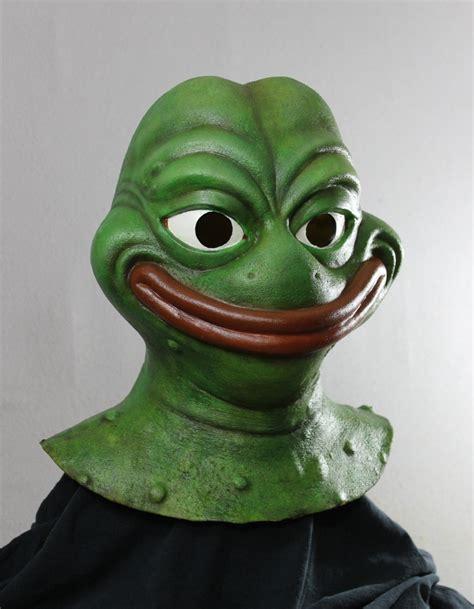 Meme Mask - smug meme frog halloween mask