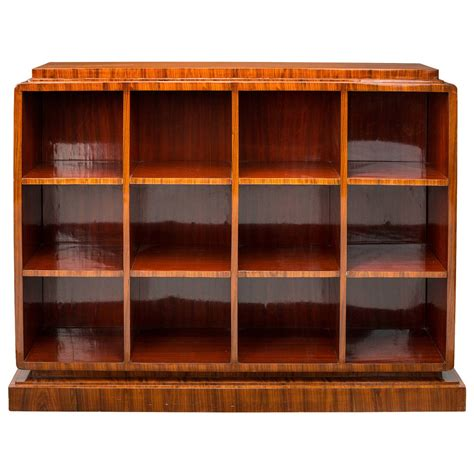 deco bookcase in manner of ruhlmann at 1stdibs
