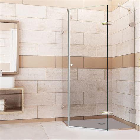 Vigo Verona 40 In X 73 375 In Frameless Neo Angle Shower Angled Glass Shower Doors