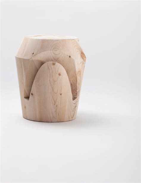 Pieces In Stool by Monolithic Wood Stools Inspired By Chess Pieces Design Milk