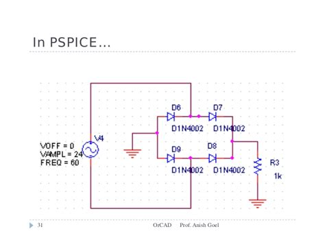 germanium diode orcad basic circuit or cad