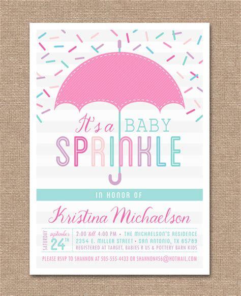 printable invitation etsy printable baby sprinkle invitation baby shower pink baby