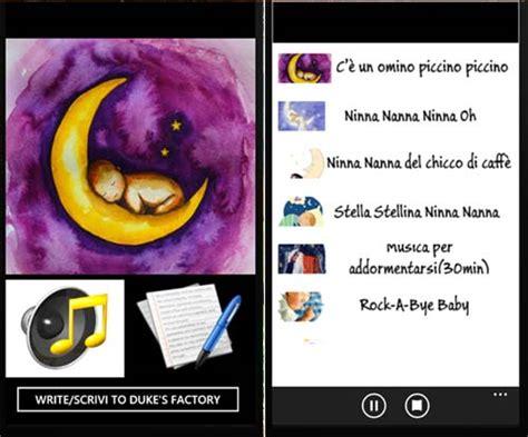 ninna nanna mamma testo canzone ninna nanna l app gratuita utile per far addormentare i