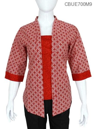 Blus Batik Malika kutubaru tanggung malika motif suket blus tanggung murah