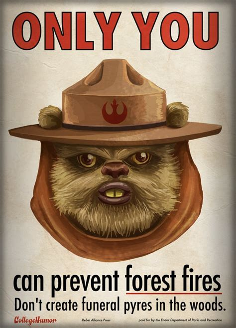 Only You Can Prevent Forest Fires Meme - star wars psas collegehumor post