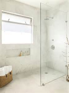 montage walk in showers with frameless glass partitions