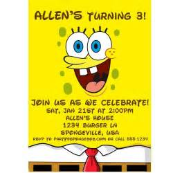 40th birthday ideas birthday invitation template spongebob