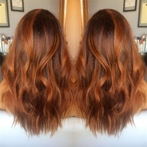copper red ombre hair balayage red hair redhead ginger hair salon hair color hair