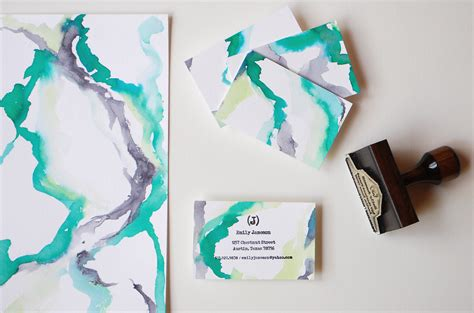 How To Make Watercolor Paper - diy tutorial rubber st calling cards