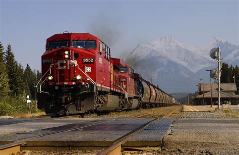 Hoodie High Times Back Print Station Apparel freight leaving banff station photograph by mike