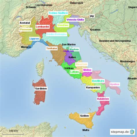 Karte Deutschland Italien by Italien L 228 Nder Lara176 Landkarte F 252 R Deutschland