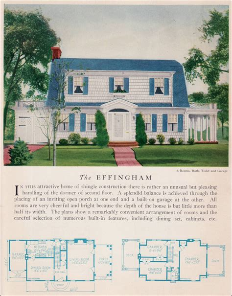 dutch colonial revival house plans the 1929 effingham dutch colonial revival attached