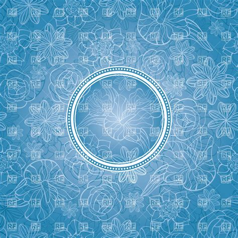classic background classic frame abstract blue floral background