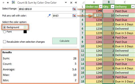 excel 2010 cell color formula how to change background