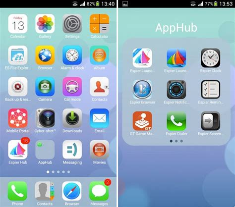 best iphone launcher apk ios 7 launcher android