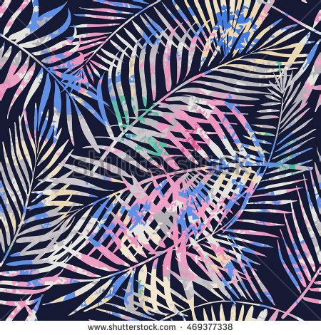 allover pattern art definition tropical palm leaves jungle leaves beautiful stock vector