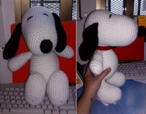 amigurumi snoopy pattern amigurumi de snoopy 161 con patr 243 n amigurumi crochet and