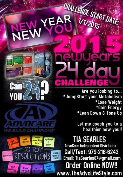 Rubens New Weight Loss Challenge by Advocare 24 Day Challenge New Years Resolution Weight