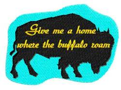 give me a home where the buffalo roam embroidery designs