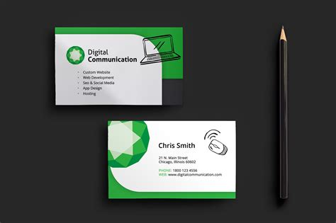 web design business card template for photoshop illustrator