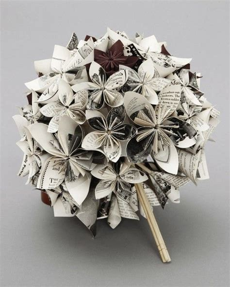 Wedding Bouquet Made From Books by Paper Bouquet Made From Books