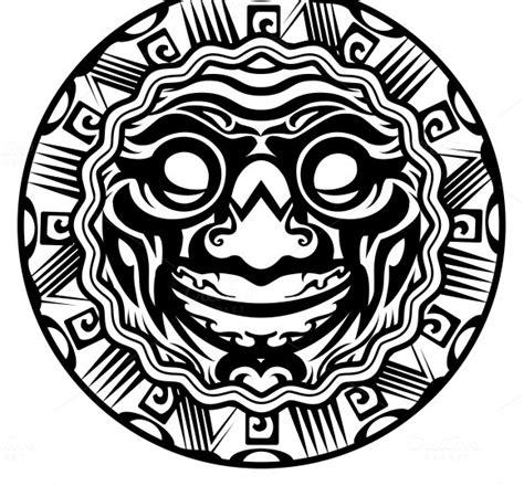 polynesian face tattoo designs polynesian sun meaning 187 designtube creative
