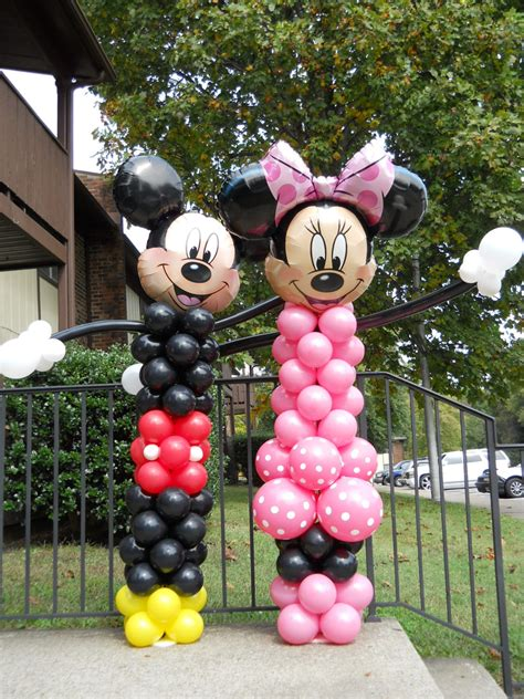 minnie and mickey mouse balloon character decorations
