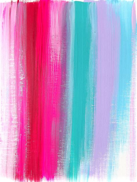 abstract pink teal ruby original acrylic painting modern