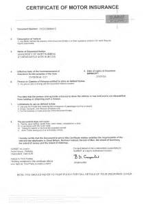 Insurance Certificate Template Car Insurance Documents Car Insurance Certificate Template