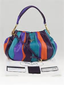 Prada Nappa Stripes Multicolor Tote by Prada Multicolor Nappa Stripes Mini Shoulder Bag Bn1679