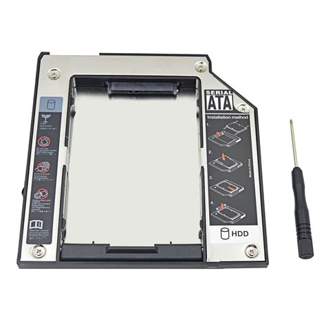 Promo Hdd Caddy 9 5mm 2nd hdd caddy 9 5mm ide 2 5 drive enclosure hdd ssd box for lenovo thinkpad t40 t41 t41p t42