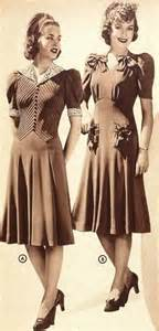 two pretty daywear dresses from the sears catalog 1940