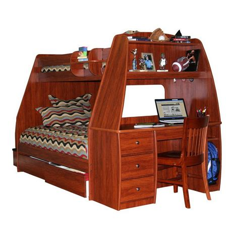 Bunk Bed With Futon And Desk by Bedroom Set With Desk Home Design Ideas