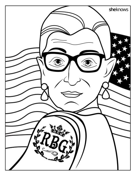 Pdf Ruth Bader Ginsburg Coloring Book celebrate the notorious rbg s birthday with this printable