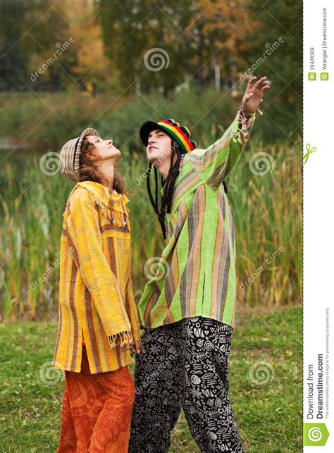 young rastafarian people outdoor royalty  stock images