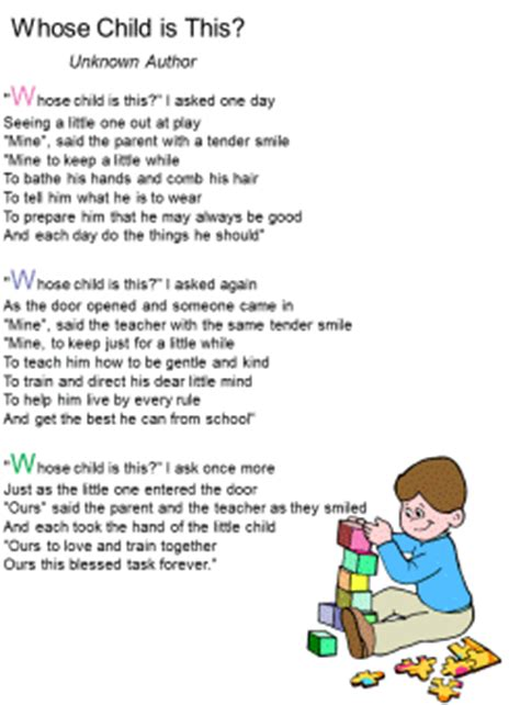 poem for child whose child is this