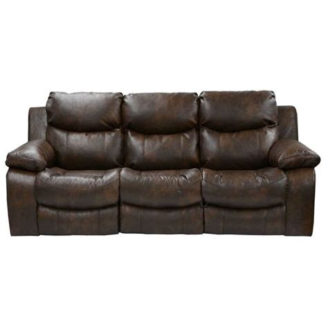 catnapper leather sofa catnapper catalina leather power reclining sofa in timber