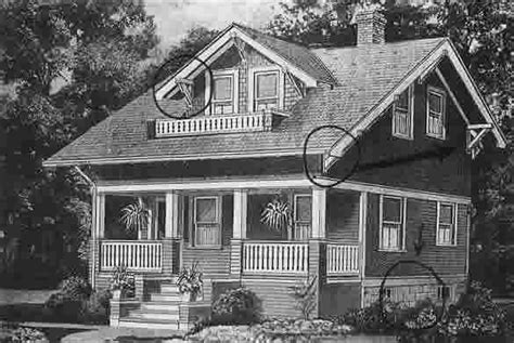 Craftsman Bungalow Plans How To Find Sears Modern Homes Old House Web