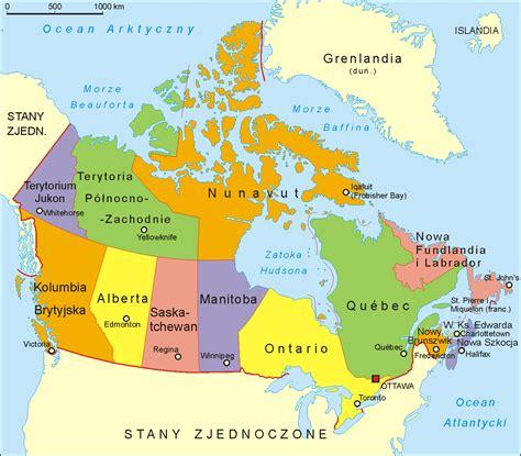 map de canada kanada worldmap pl