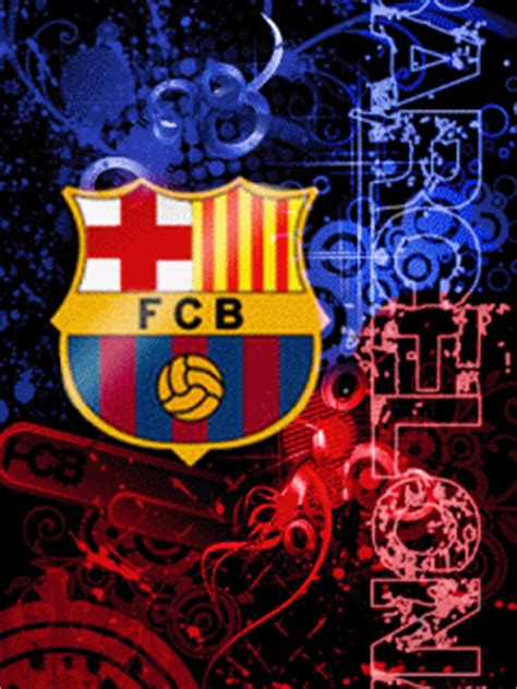 wallpaper logo barcelona bergerak gambar animasi bergerak dp bbm logo barcelona fc gif